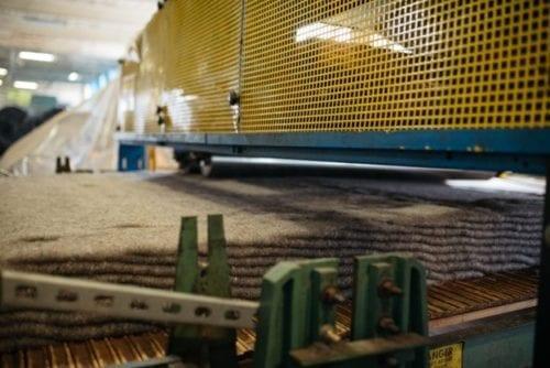 Nonwoven production line cross-lapper