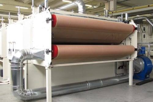 Polyester acoustical panel manufacturing line