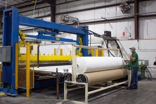 Air lay machine