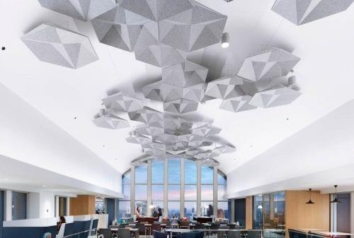 Polyester felt decorative ceiling panels