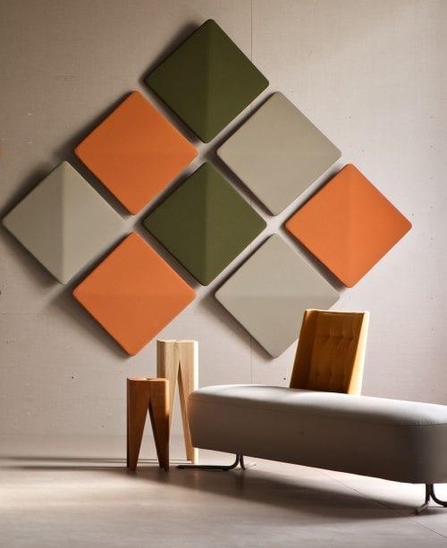 Decorative polyester felt panels